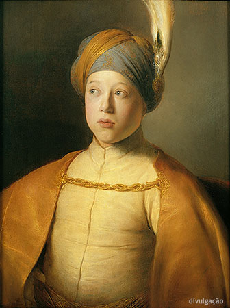 Jan Lievens (1607-1674), Boy in a Cape and Turban (Portrait of Prince Rupert of the Palatinate), ca. 1631, Oil on panel, New York, The Leiden Collection