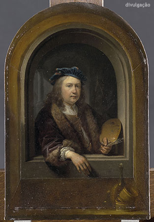 Gerrit Dou (1613-1675), Self-Portrait with Palette in a Niche, ca. 1660-65, Oil on panel, Paris, Musée du Louvre